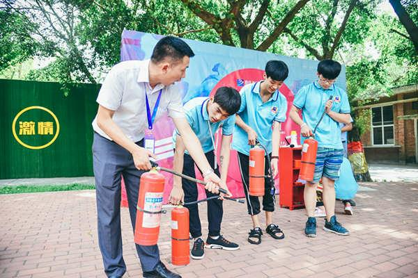 重庆计算机学校新华电脑学校消防安全教育活动