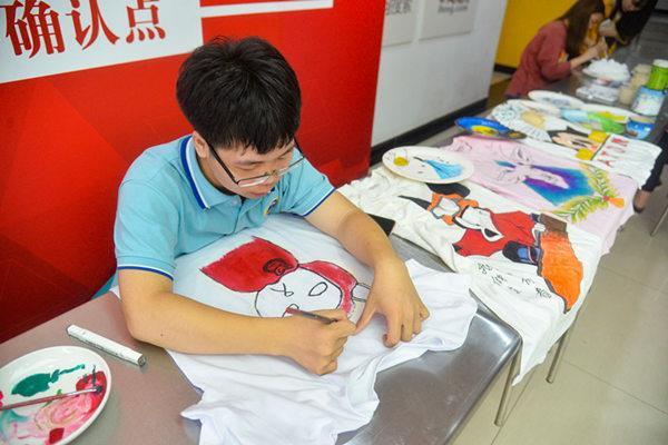重庆新华电脑学校手绘活动