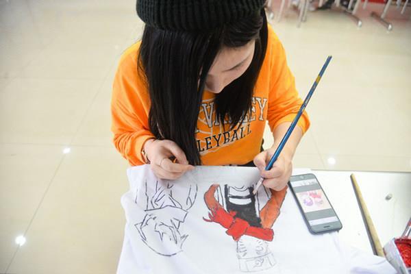校园多彩生活-手绘重庆新华互联网技术学校