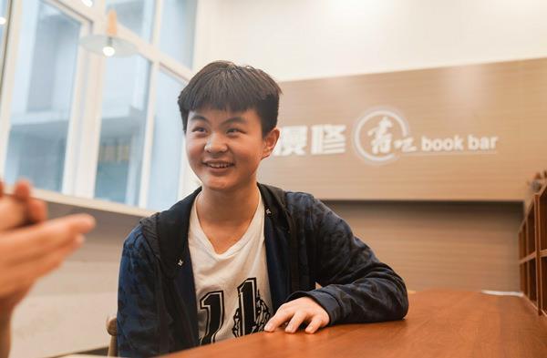 参与百日打卡计划的李荣鑫同学
