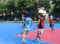 重庆新华电脑学校三人篮球决赛热血开赛